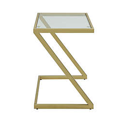 Carolina Cottage Aurora Accent Table in Gold