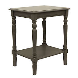 Décor Therapy Eased Edge Side Table in Grey