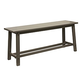 Decor Therapy Modern Bench with an Eased Edge in Grey Finish