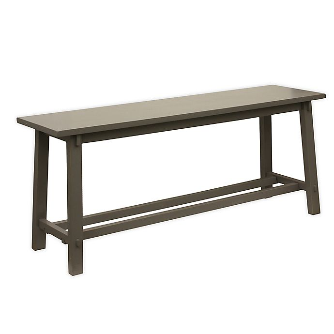 Alternate image 1 for Decor Therapy Modern Bench with an Eased Edge in Grey Finish