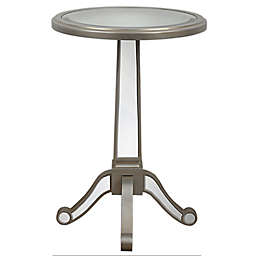 Decor Therapy Mirrored Pedestal Table