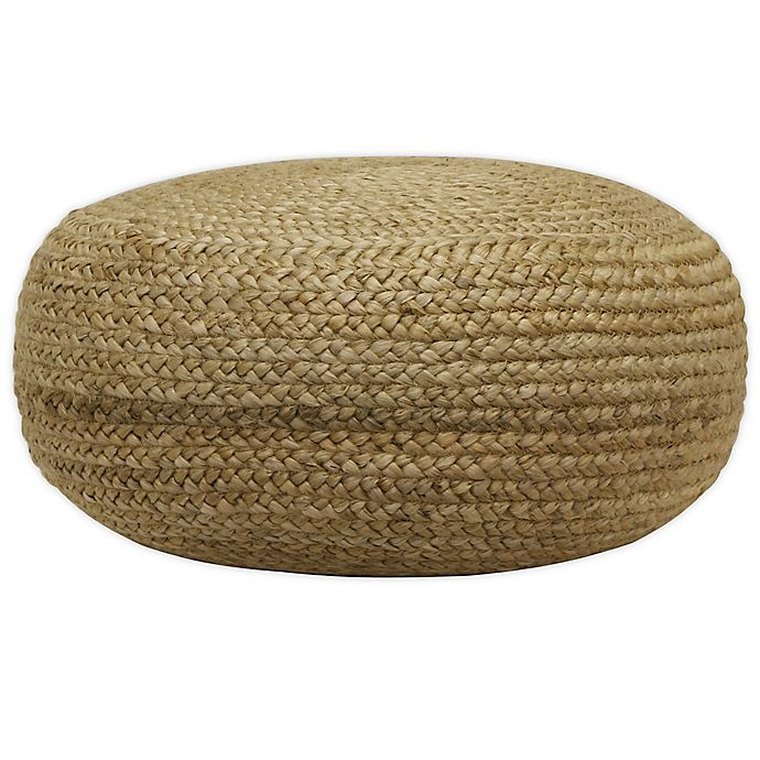 Alternate image 1 for Decor Therapy Natural Jute Woven Pouf Ottoman