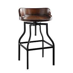 Carolina Cottage Marais Adjustable Bar Stool in Chestnut/Black