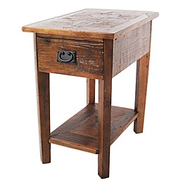 Revive Reclaimed Wood Chairside Table with Natural Finish