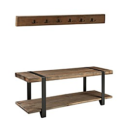 Modesto Metal and Reclaimed Wood Coat Hook and Bench Set