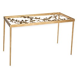 Safavieh Rosalia Butterfly Desk in Antique Gold Leaf