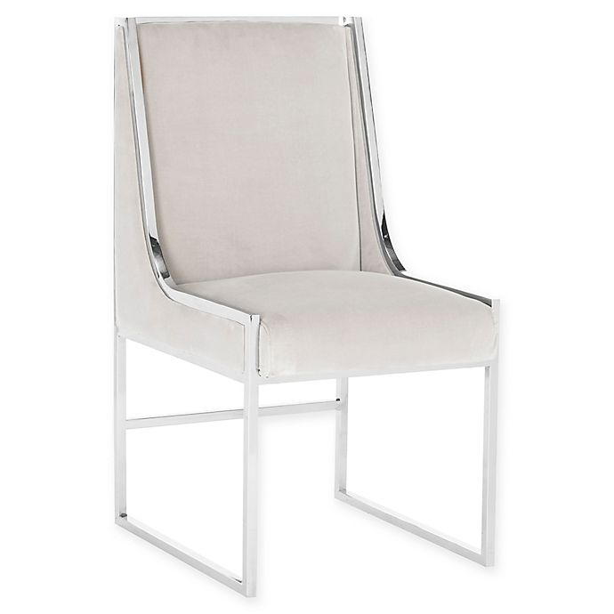 Peachy Safavieh Arteaga Velvet Dining Chair In Almond Bed Bath Unemploymentrelief Wooden Chair Designs For Living Room Unemploymentrelieforg