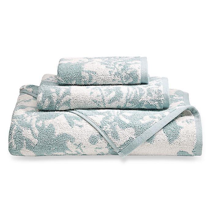 Buy Loft By Loftex Floral Block Bath Towel In Blue Off