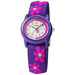 Timex® Time Machines Children's 29mm Floral Watch in Purple