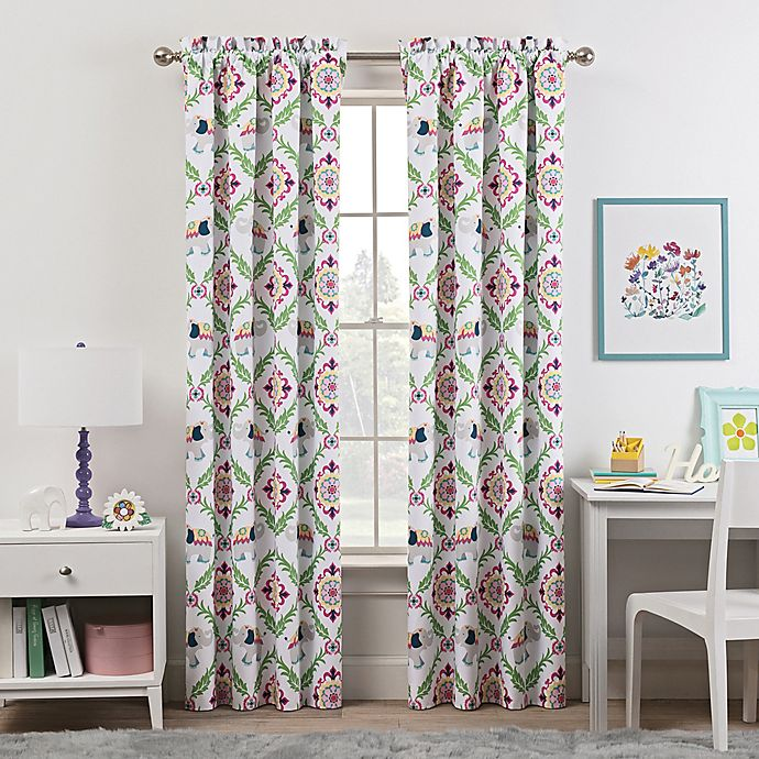 Alternate image 1 for Waverly Kids Bollywood Rod Pocket Room Darkening Window Curtain Panel in Green