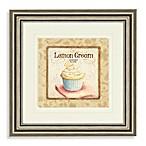 Lemon Cream Cupcake Wall Art