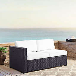 Crosley Biscayne All-Weather Resin Wicker Loveseat with Cushions