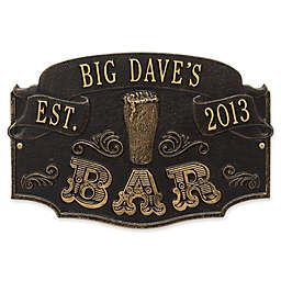 Whitehall Product Established Bar Plaque in Black/Gold