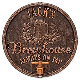 Whitehall Products Oak Barrel Beer Pub Plaque