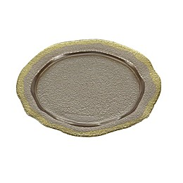 Classic Touch Trophy Bronze Plates with Scalloped Borders (Set of 4)