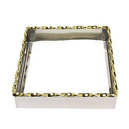 Classic Touch Twisted 2-Tone Napkin Holder