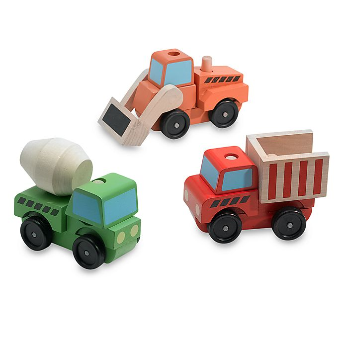 Alternate image 1 for Melissa & Doug® Stacking Construction Vehicles