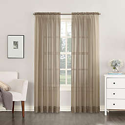 No.918®Emily Sheer Voile 108-Inch Rod Pocket Window Curtain Panel in Taupe
