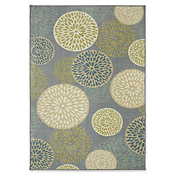 Mohawk Home Foliage Friends 5-Foot x 8-Foot Area Rug in Green