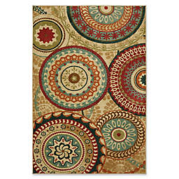 Mohawk Home Forest Suzani 5-Foot x 8-Foot Area Rug in Burnt Orange