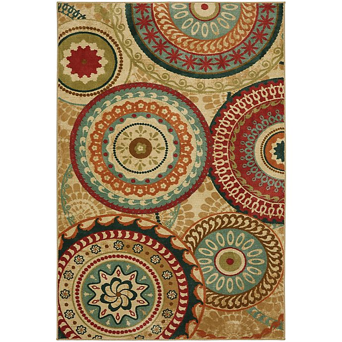 Alternate image 1 for Mohawk Home Forest Suzani 7-Foot 6-Inch x 10-Foot Area Rug in Burnt Orange