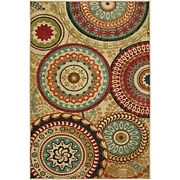 Mohawk Home Forest Suzani 7-Foot 6-Inch x 10-Foot Area Rug in Burnt Orange