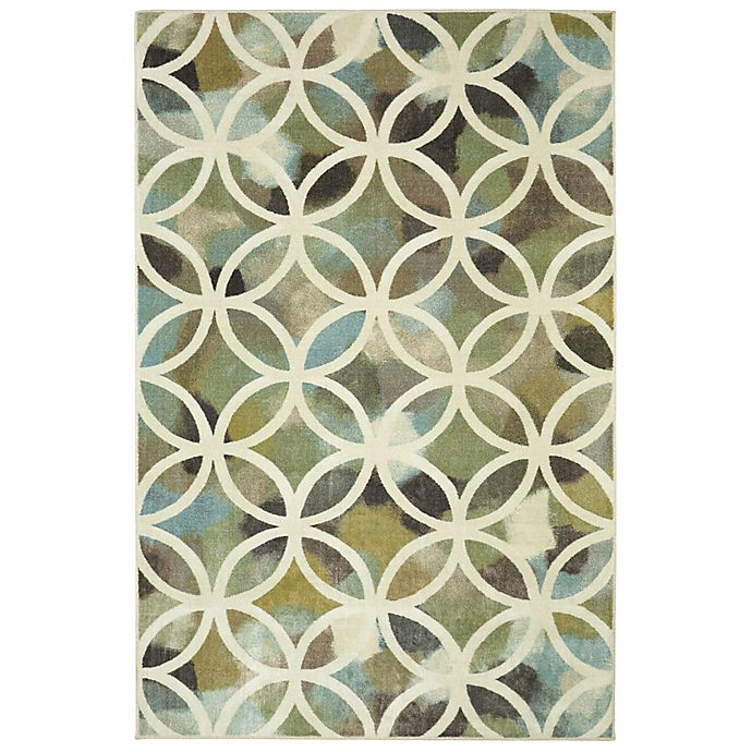 Alternate image 1 for Mohawk Home  Random Symmetry 5-Foot x 8-Foot Area Rug in Light Green
