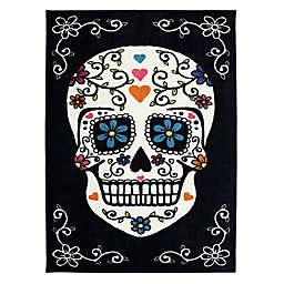 Mohawk Home Sugar Skull Multicolored 7-Foot 6-Inch x 10-Foot Area Rug in Rainbow