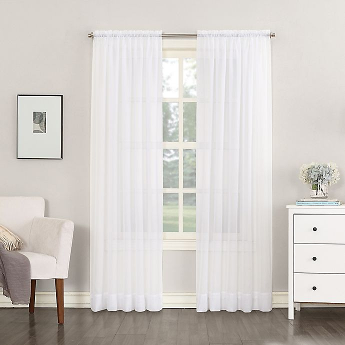 Alternate image 1 for No.918® Emily Sheer Voile Rod Pocket Window Curtain Panel (Single)