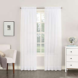 No.918® Emily Sheer Voile 95-Inch Rod Pocket Window Curtain Panel in White