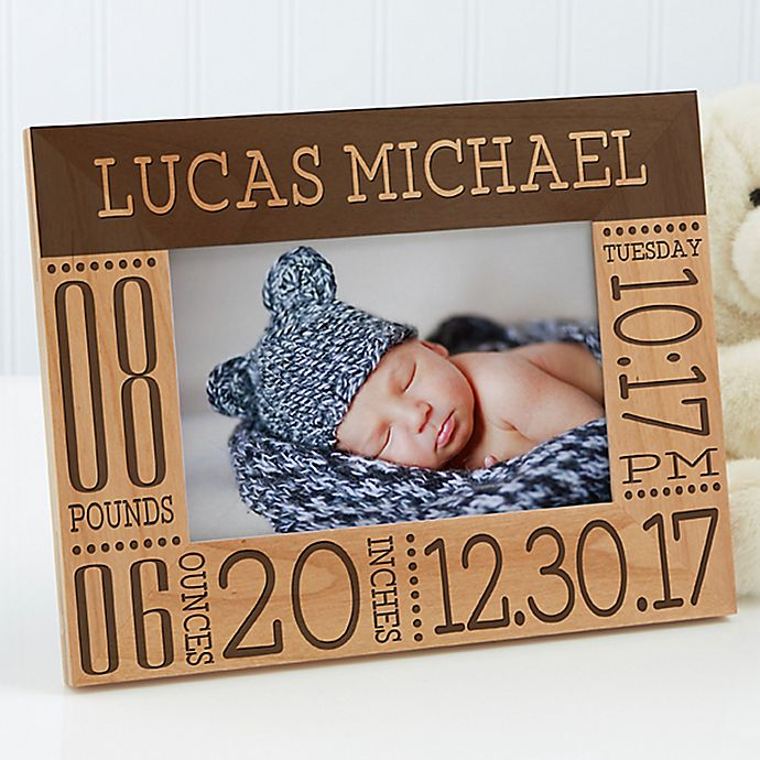 Alternate image 1 for Baby Love Birth Info Picture Frame