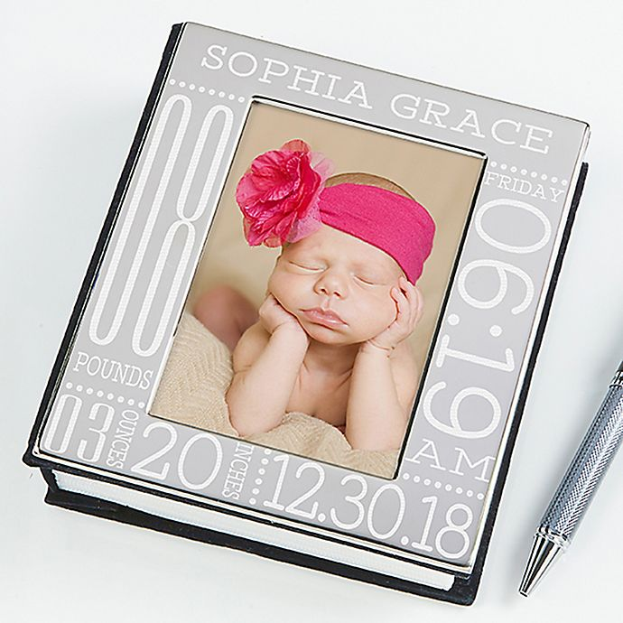 Alternate image 1 for Baby Love Birth Information Engraved Photo Album