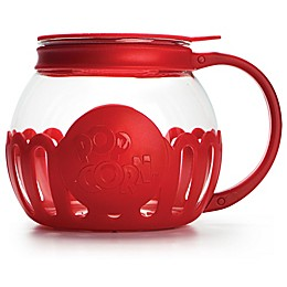 Kitchen Extras 1.5 qt. Glass Kitchen Popper in Red