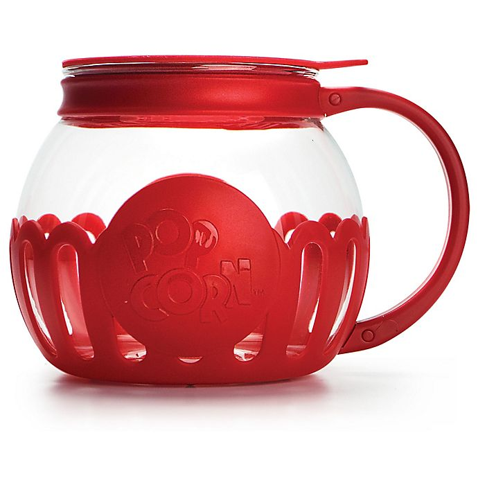 Alternate image 1 for Kitchen Extras 1.5 qt. Glass Kitchen Popper in Red