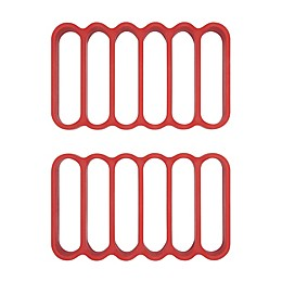 OXO Good Grips® Silicone Roasting Racks in Red (Set of 2)