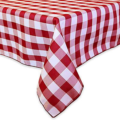 Gingham Poly Check Square Indoor/Outdoor Tablecloth