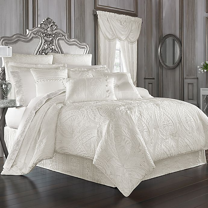 Alternate image 1 for J. Queen New York™ Bianco Queen Comforter Set in White