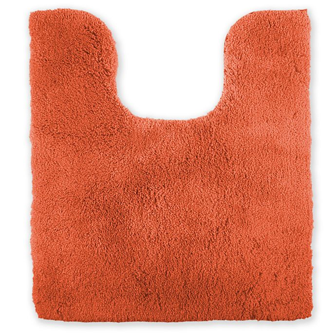 Alternate image 1 for Wamsutta® Ultra Soft Contour Bath Rug in Coral