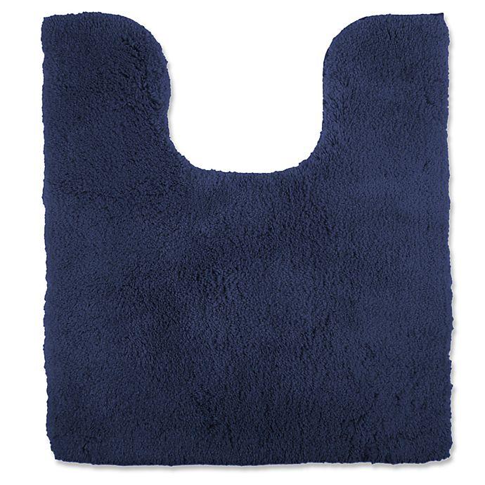 Alternate image 1 for Wamsutta® Ultra Soft Contour Bath Rug in Denim Blue