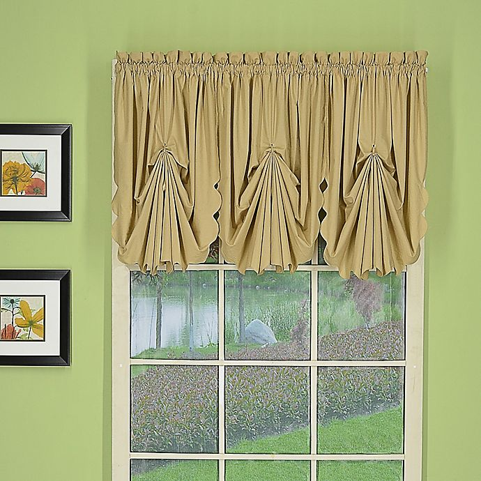 Alternate image 1 for Today's Curtain® Orleans Rod Pocket Fan Insert Window Valance in Linen