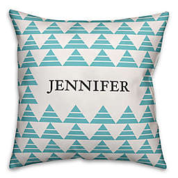 Geometric Square Throw Pillow in Blue