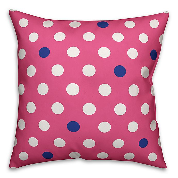 Alternate image 1 for Polka Dot Square Throw Pillow in Pink