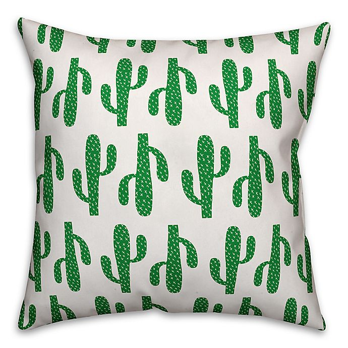 Alternate image 1 for Cactus Throw Pillow in Green
