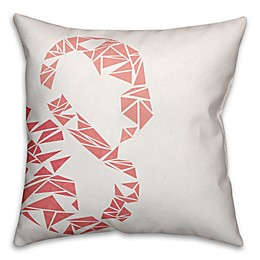 Geometric Throw Pillow in Pink