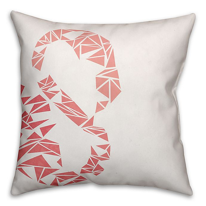 Alternate image 1 for Geometric Throw Pillow in Pink