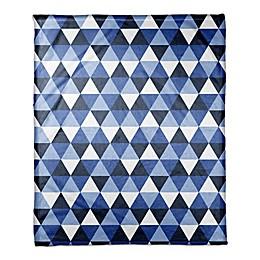 Geometric Throw Blanket in Blue
