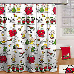 Peanuts™ Holiday 70-Inch x 72-Inch Shower Curtain with Hooks