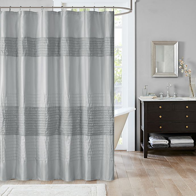 Madison Park Amherst Metallic 72 Inch X 72 Inch Shower Curtain Bed