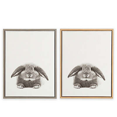 Designovation Sylvie Rabbit Framed Canvas Wall Art