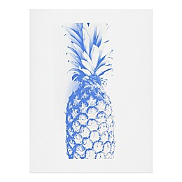 Deny Designs 11-Inch x 14-Inch Deb Haugen Blu Pineapple Wall Art